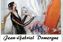 """⊱ Jean-Gabriel Domergue ⊰ / ≻ Jean-Gabriel Domergue ~ Bordeaux, France, 4 March 1889 –16 November 1962, Paris ≺ Jean-Gabriel Domergue was a French painter specialising in portraits of Parisian women. Domergue invented a new type of woman : thin, airy, elegant, with a swanlike neck and wide seductive eyes which gaze upon the world with longing.  """"I invented the pin-up"""" he later claimed."""