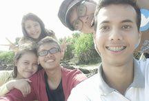 One day vacation / Pasir putih beach at West Java Indonesia.