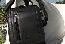 Man Bag / Black genuine Leather man bag