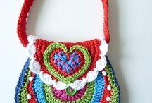 Crocheted purses