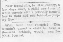 From the Pages on Ancestry Talk / A series of interesting newspaper articles that I run across during my genealogy research.