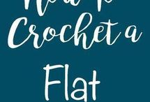 How to crochet flat