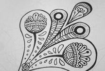 Zentangle / Voorbeelden en ideeen voor zengale