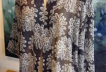 Summery Hand Batik tops / The Island Gallery presents a collection of hand batiked with natural dyes light silk (crinkle and raw) wraps, jackets, soft cotton, bamboo ramie, tops, caftans. Contact us for additional selections!