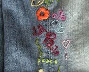 calças bordadas