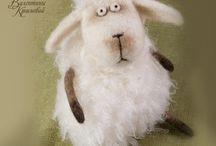 Vilten schapen en lammetjes