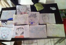 Dessins DBZ / Ces dessins sont fait par ma fille qui a 10 ans