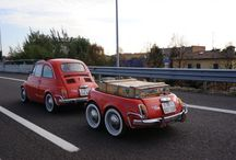 Cars and Trailers / Classic cars with identical classic trailers