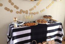 festa   preto, branco e dourado