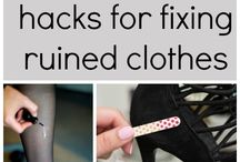 Fixing damaged clothes