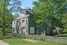 """Thomas Halsey Homestead / Located at 249 South Main Street, Southampton, NY. This rare """"first period"""" house was built in 1666 when Main Street, in the pioneer hamlet of Southampton, was first laid out. Its owner, Thomas Halsey, was one of the original families who bought property from the Shinnecocks in 1640. Believed to be the oldest English-style house in New York State, the Halsey home is filled with 17th and 18th century furnishings, donated by local families. Property of the Southampton Historical Museum."""