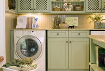 Laundry Room Inspiration / Ideas that make you want to spend more time doing laundry.