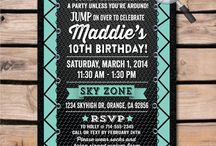 Trampoline Jump Party Invitation Set!