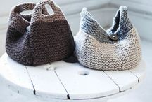 Bags Baskets knitted and crocheted