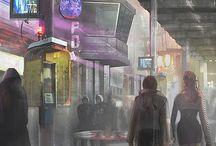 Neon sci-fi inspiration