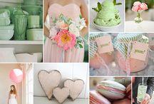 Sweet Candy Wedding - rosa, mint, weiß, ivory / Weibliche Farben wie rosa und mint zaubern eine sehr erwachsene Deko für eine Hochzeit im Frühling und im Sommer. Rosa Zuckerwatte und Pistazieneis in strukturierten Gläsern zaubern eine extravagante und gemütliche Stimmung im Retro-Style.
