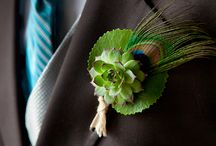 Boutonnieres / We love getting creative with our men!                                                              Is Lobby the Lobster hiding in this board?
