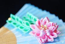Kanzashi Hair Accessories / Handmade Japanese style hair accessories