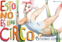 """ESTO NO ES UN CIRCO / Esta obra la hice para la exposición """"Esto no es un circo"""". Está compuesta por 15 personajes realizados en acuarela y lápices de color. Formato 40 x 30 cm.  Papel 300 grs. tintoretto gesso marca Fedrigoni. Venta láminas eladasinache@gmail.com"""