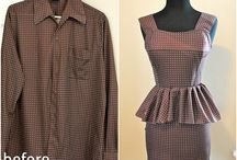 Men's dress shirt refashions / Ingenious uses for the plethora of men's dress shirts we seem to have around the house... / by Cecyle