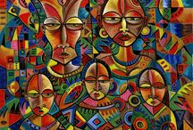 Africans arts and cultures / portraits of different cultures