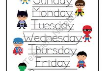 days of a week worksheet