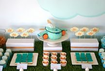 Airplane Blue Orange Party / by DimplePrints- Carli