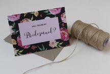 Bridesmaids cards