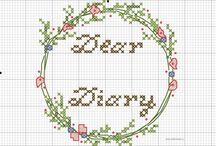 My cross stitching designs / Cross stitching designs I create at www.artinmess.ru