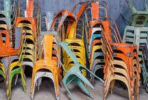 Chaise industrielle