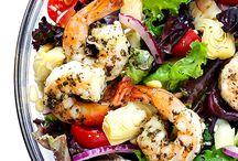 Salads  Made with Shrimp