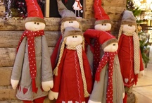 bambole di pezza  natalizie