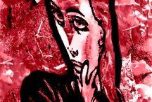 Belle EPOQUE / Una mirada nostálgica del la Belle Epoque por la artista CRIS ACQUA con  un estilo expresionista.