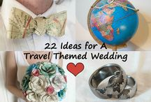 Travel Themed Wedding Inspiration / Advice and products perfect for a travel themed wedding or for a destination wedding, honeymoon, or travel-related gifts! Focus on handmade, custom, DIY, and artisanal products!