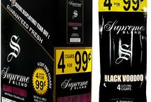 Supreme Blend Cigarillos / Supreme Blend Cigars are true to their name. These cigars are made from a blend of exquisite tobaccos procured from North Carolina, which have been infused together to create amazing flavors.