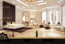 Bedroom and luxurious interior design styles / Bedroom and luxurious interior design styles  Algedra interior design company specialized in providing extremely excellent interior design services for both residential and commercial projects, Our interior designers well experienced with many different international styles, Algedra interior design aim's to build lasting relations with Algedra's clients through strong communication and hard work  Algedra Interior Design 800ALGEDRA 8002543372 www.algedra.ae