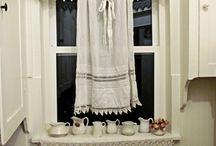 Beautiful Window dressings and lace curtains