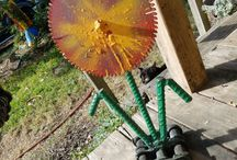 DIY Metal Art Ideas / Do it yourself scrap metal art ideas made with junk yard metal and salvaged found objects by Raymond Guest at Recycled Salvage Design www.recycledsalvage.com