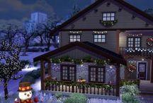 Maisons de Noël Sims 4 / Vous y retrouverez toutes les maisons de Noël disponibles sur http://luniversims.com