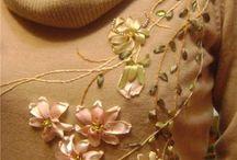 вышивка на одежде лентами