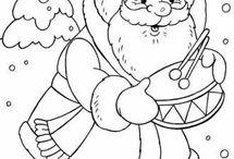 Дед Мороз и Новый год - раскраски