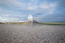 Mirrored Beach Hut / A project we did with ECE Architecture in Worthing UK. A fresh take on an iconic seafront building to engage with the local community and demonstrate the value of creativity.