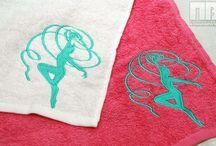 Вышивка на полотенцах / Индивидуальная машинная вышивка на полотенцах