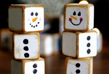 block Christmas crafts