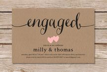 engagement/ wedding invite