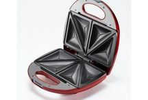 Electric 2 Slice Sandwich Toaster Maker -Red