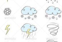 날씨. 표정
