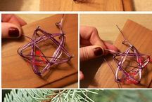Wired star ornaments