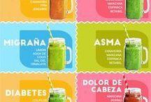 comida y bebidas sanas