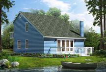 Vacation Home Plans / Situated on your favorite countryside retreat, enjoy nature's vistas from your great room or your front porch.